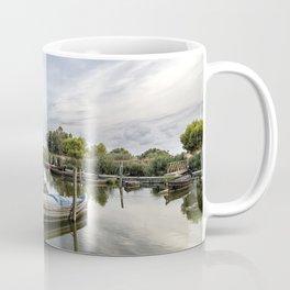 Boats in a lagoon port Coffee Mug