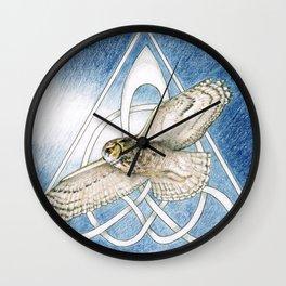 Great Horned Owl soft framed Wall Clock