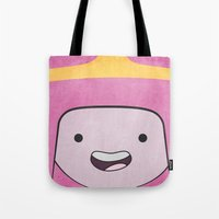 princess bubblegum Tote Bags featuring Princess Bubblegum by Some_Designs