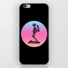 Classic Retro Design Praying Skeleton iPhone Skin