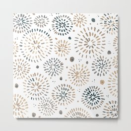 Abstract watercolor sparkles – neutral Metal Print