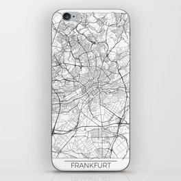Frankfurt Map White iPhone Skin