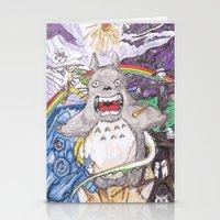 miyazaki Stationery Cards featuring Miyazaki Mash-Up by Loveless D. Grim