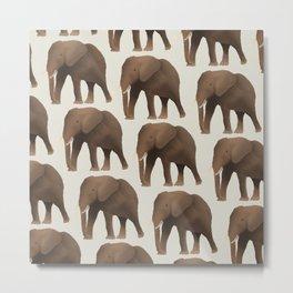 Safari Elephant Pattern Metal Print