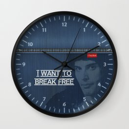 Denim Jeans - I Want To Break Free & F.Mercury Wall Clock