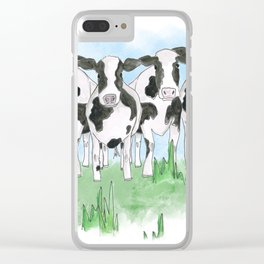 A Field of Cows Clear iPhone Case