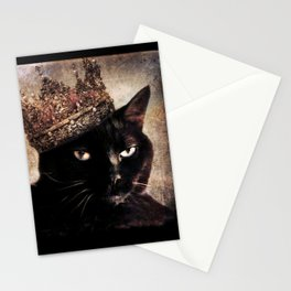 Black Cat - Queen Cora Stationery Cards