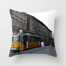 Budapest street Throw Pillow