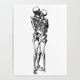 Kissing Skeleton Poster