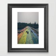 Rainbow Road Framed Art Print