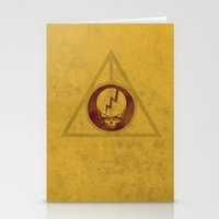 deathly hallows Stationery Cards featuring Grateful Deathly Hallows by jerbing