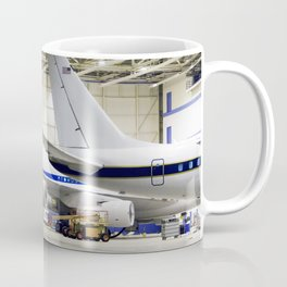 Two large science aircraft a DC-8 flying laboratory and the SOFIA 747SP based at NASAs Dryden Aircra Coffee Mug