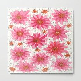 Fusia flowers Metal Print