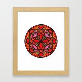 Red mandala of love Framed Art Print