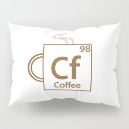 Coffee Periodic Table Pillow Sham