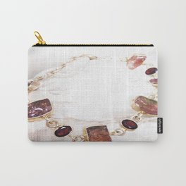 Watermelon Tourmaline Carry-All Pouch