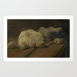 Still Life with Cabbage and Clogs Art Print