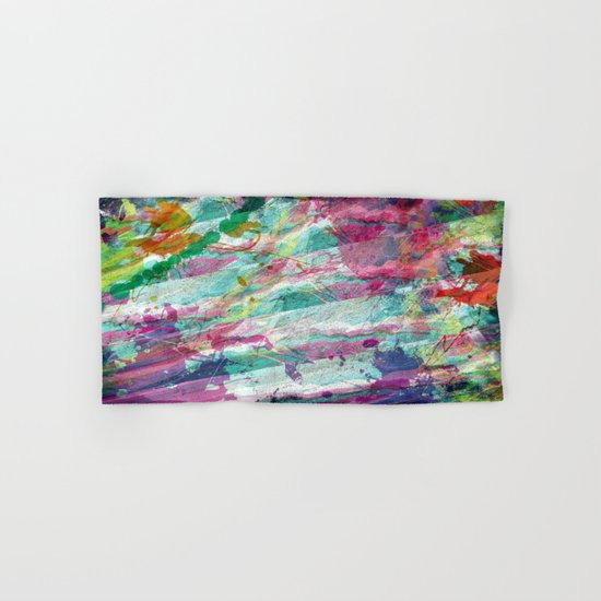 Bright Color Splash Abstract Hand & Bath Towel