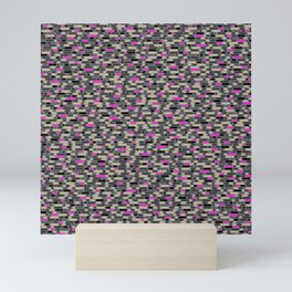 Directions Camouflage (Pink/Gray) Mini Art Print