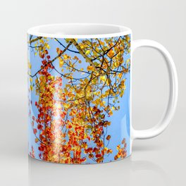 Aspen Color Candy // Green Yellow Red and Orange Fall Leaf Colors Coffee Mug