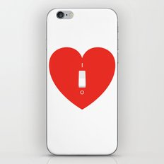Switch Off My Heart Before You Leave iPhone & iPod Skin