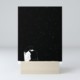 lovers watching the stars Mini Art Print