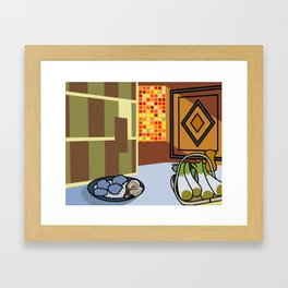 The cocktail party Framed Art Print