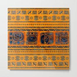Maya Ornaments and Glyphs Metal Print