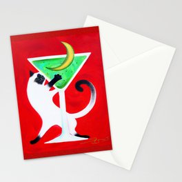 Moon Martini Stationery Cards