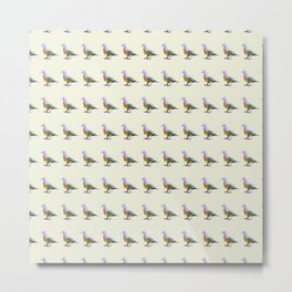 Fruit Dove Watercolour Metal Print