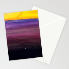 Walking alone Stationery Cards