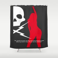 quentin tarantino Shower Curtains featuring Death Proof by fouur