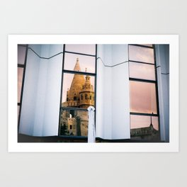 Reflections in Budapest Art Print