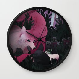 Spirits of the forest Wall Clock