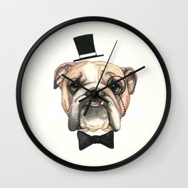 English Bulldog - livin' la vida bulldog Wall Clock