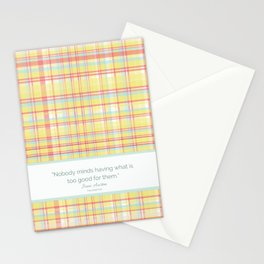 Nobody Minds (Jane Austen Mansfield Park Quote) Stationery Cards