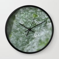 ukraine Wall Clocks featuring Ukraine dew drops #7029  by Photography by Stefanie Jasper
