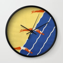 Australia, Sunshine and Surf - Vintage Poster Wall Clock