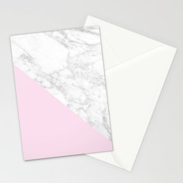 Pink Marble Accent Stationery Cards