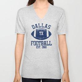 Dallas Football Fan Gift Present Idea Unisex V-Neck