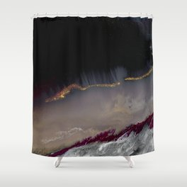The Extasy Of Gold - Abstract landscape resin art Shower Curtain