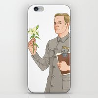 david fleck iPhone & iPod Skins featuring DAVID by Pulvis