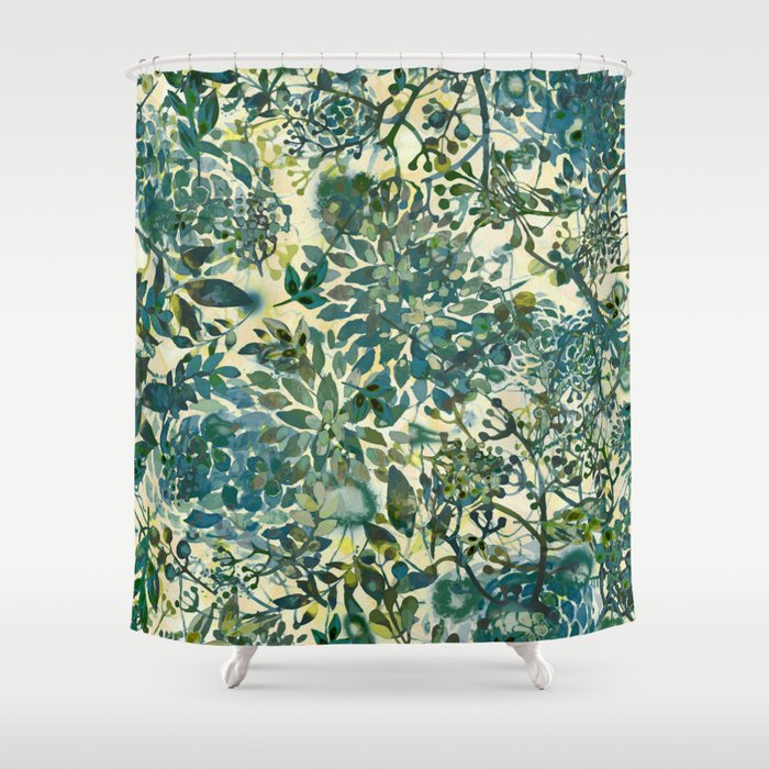 spring time emerald green Shower Curtain by clemm | Society6