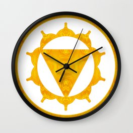 Energy Center Abstract Chakra Artwork Wall Clock