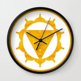 Energy Center Abstract Chakra Artwork Wall Clock