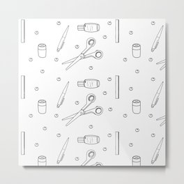 office equipment . illustration Metal Print