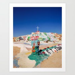 The colorful mountain Art Print