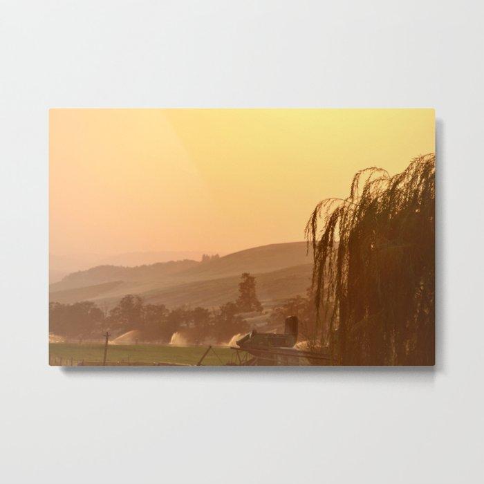 SUNSET OVER EASTERN OREGON Metal Print