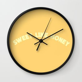Sweet Like Honey | Typography Wall Clock