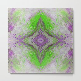 Psycho - Green Slime and Purple Fancy in a Reptile Universe by annmariescreations Metal Print